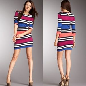 French Connection Jag Stripe Dress Multi-Utility 6